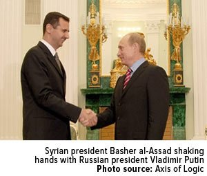 Syrian-president-Basher-al-Assad-shaking-hands-with-Russian-president-Vladimir-Putin