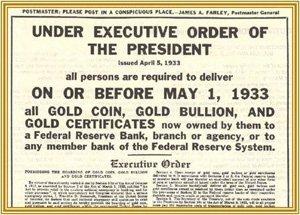 Gold Executive Order