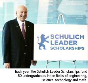 Each year, the Schulich Leader Scholarships fund 50 undergraduates in the fields of engineering, science, technology and math.