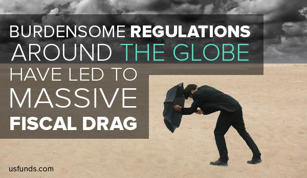 Burdensome regulations around the globe have led to massive fiscal drag