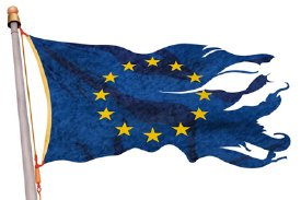 Tattered EU Flag