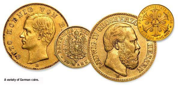 A variety of Germman coins